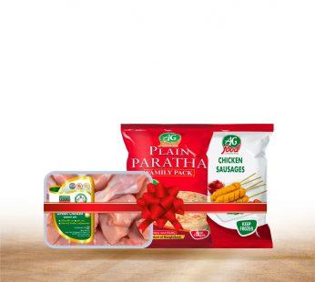 Bundle  – 1- Plain Paratha Family (1300g) , Chicken Sausage (340g) , Green Chicken Curry Cut (500gm)
