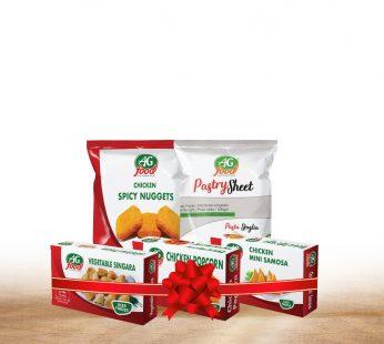 Bundle – 2 –  Mini Chicken Samosa (250g) , Pastry Sheet (500g) , Chicken Nuggets Spicy (250g) , Chicken Popcorn (250g) , Giblet Singara (300g)