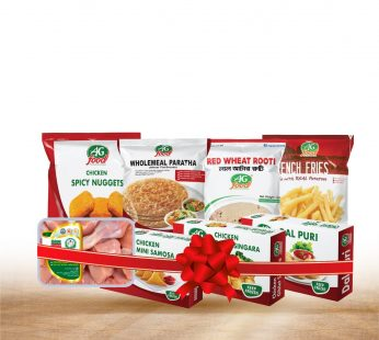 Bundle – 4 –  Wholemeal Paratha (1600g) , Mini Chicken Samosa (250g), Chicken Nuggets Spicy (250g), Giblet Singara (300g) , Dal Puri (454g), Red Wheat Rooti (800g) , French Fries (500g) , Green Chicken Curry Cut (500gm)